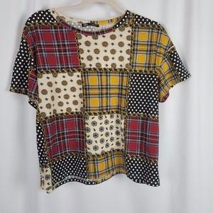 ZARA t-shirt multi-colored size M